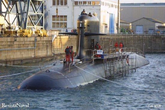 Flotadura del submarino «O'Higgins» para la Armada de Chile (Foto: IZAR)