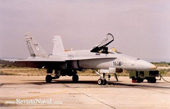 F-18 Hornet del Ejército del Aire español