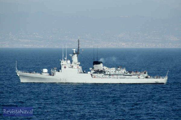 El patrullero P-75 «Descubierta» se desplazó desde su puerto base de Cartagena (Foto: Javier Sánchez)