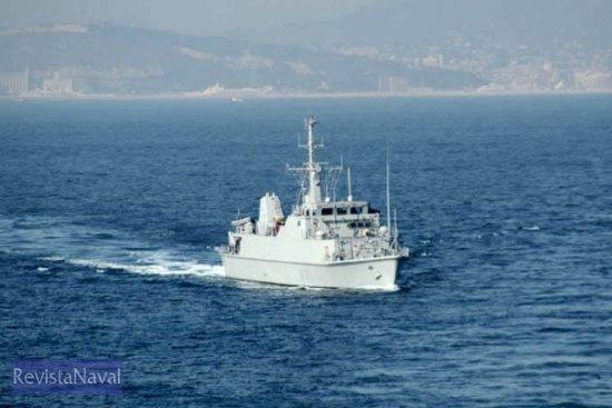 El cazaminas M-31 «Segura» fue otro de los buques presentes en la cita catalana. Además de los ya citados, la presencia de la Armada se completó con la fragata F-86 «Canarias» y los patrulleros «Espalmador» y «Alcanada», bien conocidos por los barceloneses (Foto: Javier Sánchez)