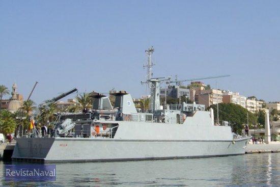 El cazaminas «Sella» es uno de los modernos buques que se desplazarán a Vigo (Foto: Diego Quevedo Carmona)