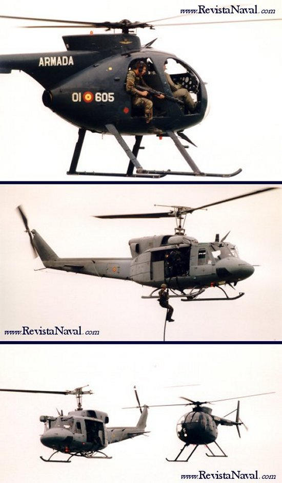 Helicópteros evolucionando