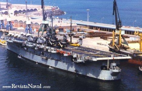 Veterano de la Segunda Guerra Mundial, el portaaeronaves Dédalo (ex- USS Cabot) sirvió hasta 1989 en la Armada española
