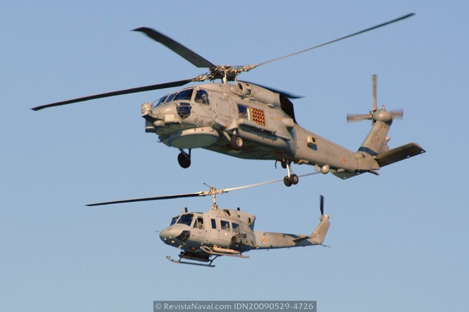 La modernización de los Agusta Bell 212 de la Tercera Escuadrilla