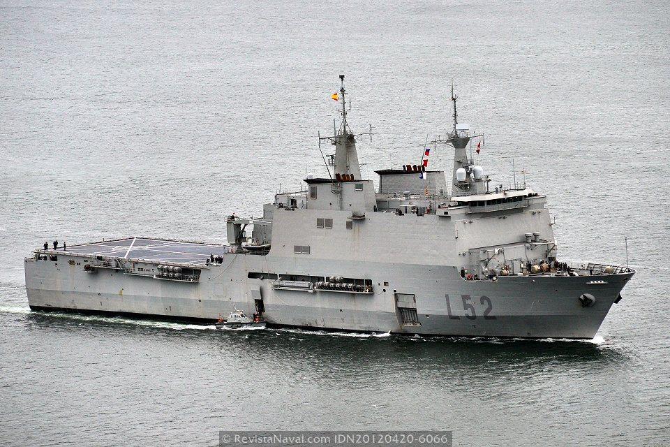 El Buque de asalto anfibio «Castilla» zarpa de Rota para incorporarse a Atalanta
