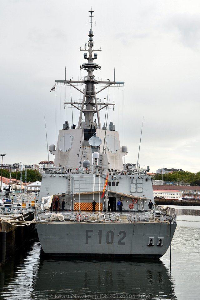 Seis heridos leves a bordo de la fragata «Almirante Juan de Borbón»