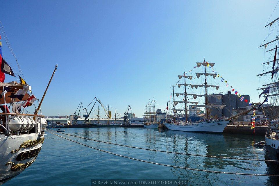 Los buques de la Tall Ships Races en A Coruña