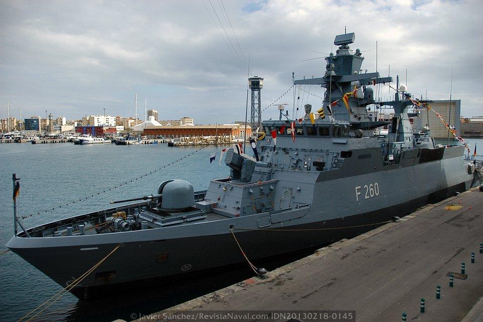 Barcelona, puerto base de la Marina alemana en el Mediterráneo