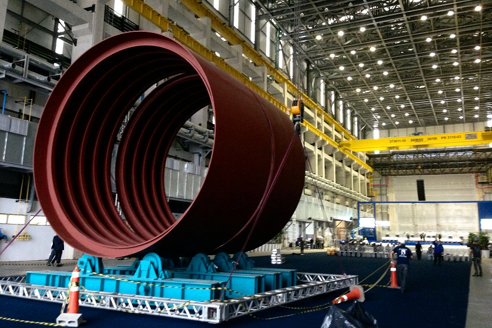 Dilma Rousseff inaugura las instalaciones industriales para la producción de submarinos
