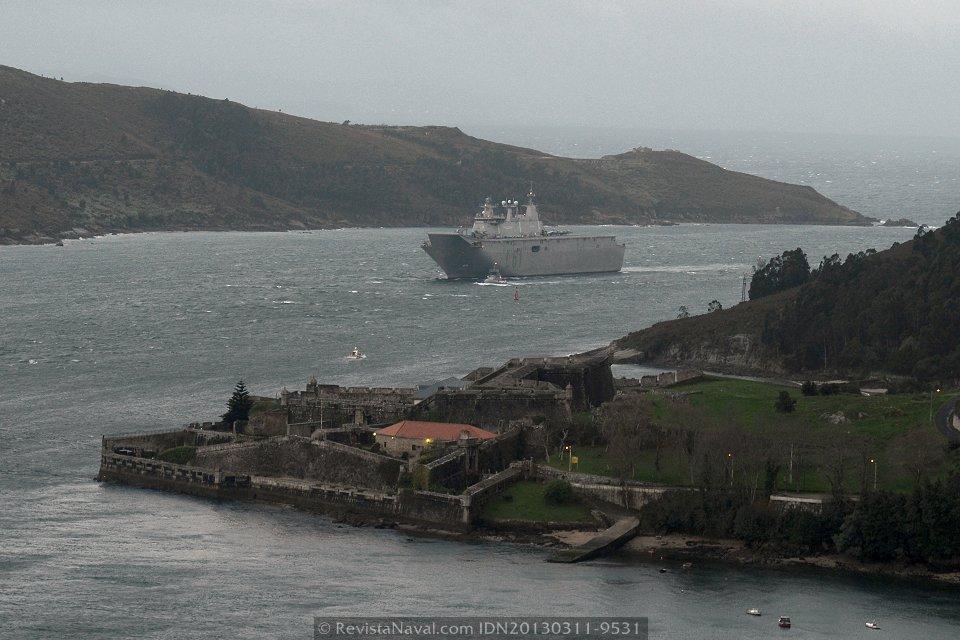 El LHD «Juan Carlos I» cumple cinco años a flote