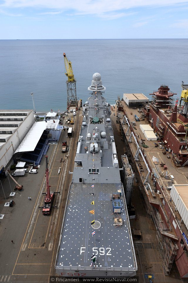 Fincantieri pone a flote la tercera FREMM para la Marina italiana