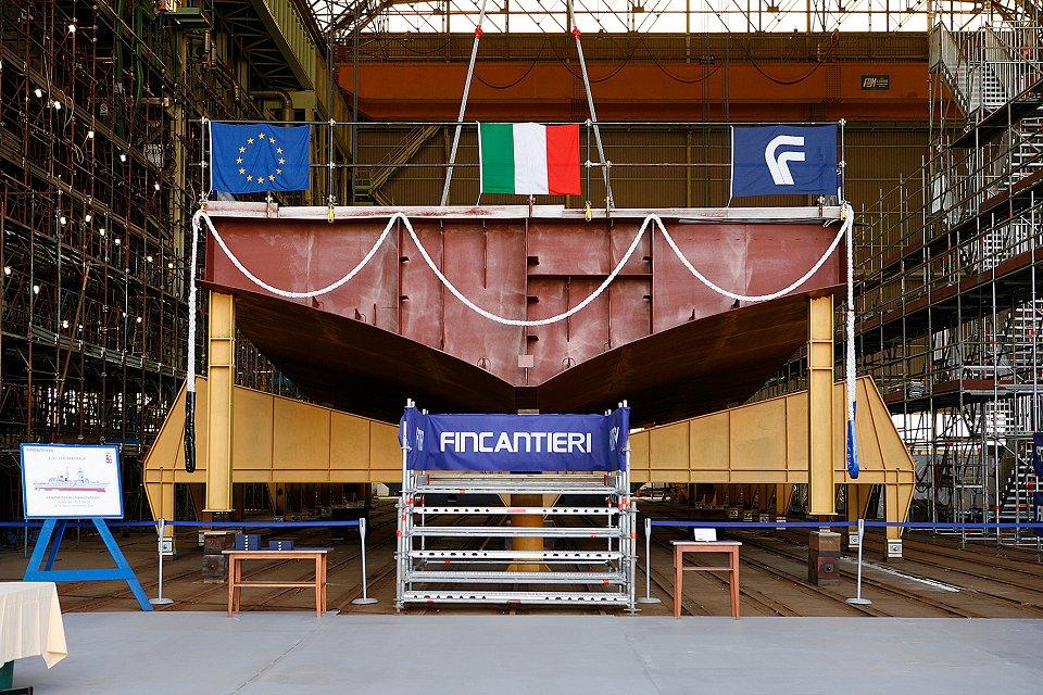Fincantieri pone la quilla de la fragata FREMM «Luigi Rizzo»