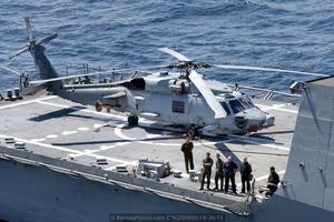 SH-60B a bordo de la fragata F-103 «Blas de Lezo» durante el ejercicio Loyal Mariner 2008 de la OTAN (Foto: Fernando Rivera/Revista Naval)