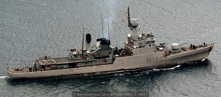 Buque de mando de la Fuerza de Medidas contra minas, M-11 Diana, antigua corbeta del mismo nombre (Foto: Xoán Porto/Revista Naval)