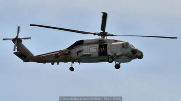 SH-60B de la Armada, nótese el afuste para el cañón ligero (Foto: Xoán Porto/Revista Naval)
