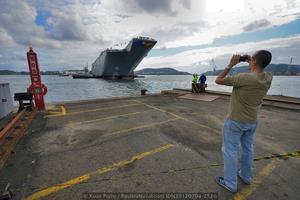 El «Adelaide» será transportado a Australia en 2014 (Foto: Xoán Porto / Revista Naval)