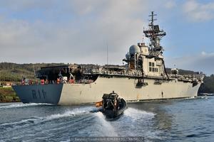 Vista desde la aleta de estribor (Foto: Xoán Porto/Revista Naval)