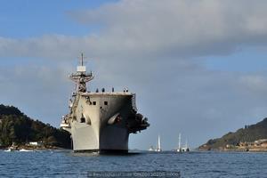 Vista de proa (Foto: Xoán Porto/Revista Naval)