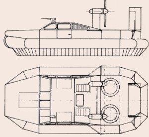 Planta y perfil del VCA-4