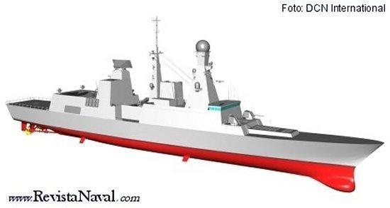 Configuración final de la fragata Horizon francesa (DCN International)