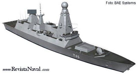El destructor Type 45 británico (BAE Systems)