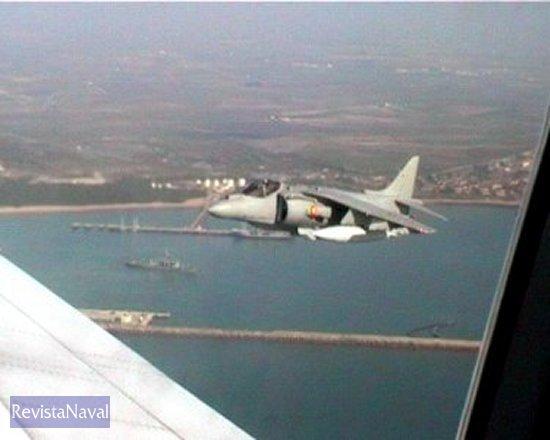 Secuencia de imágenes del salto tomadas desde el B-707 del Ejército del Aire.
