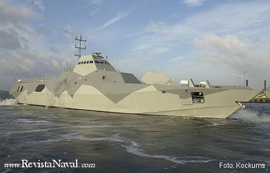 Las corbetas furtivas de la clase Visby. Uno de los numerosos programas nórdicos que aplican la tecnología stealth al diseño integral del buque, ideal para camuflarse en las escarpadas y restringidas costas del Báltico.