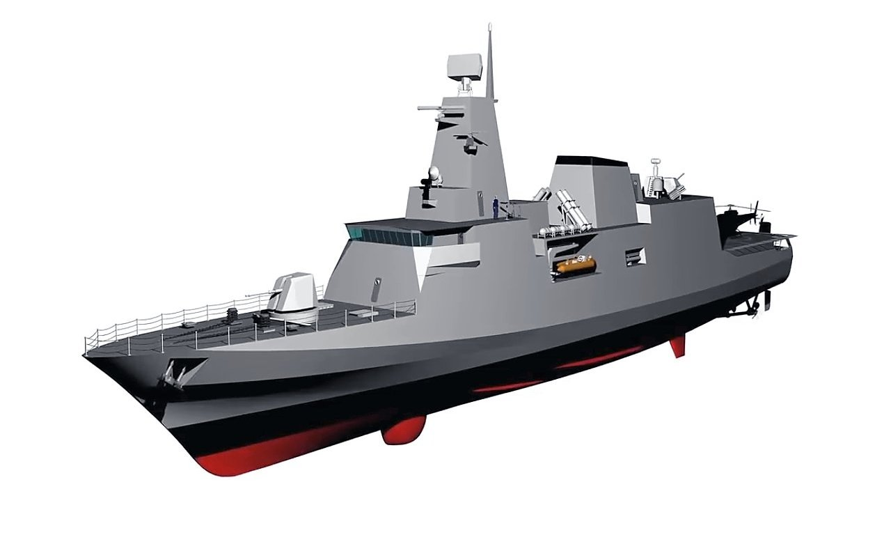 Diseño conceptual de las futuras corbetas de la clase Tamandaré (Imagen: Marinha do Brasil)