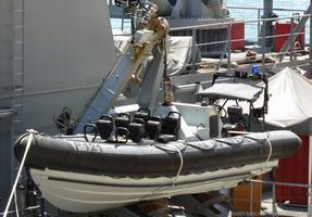 Embarcación semirrígida de asalto a bordo del APA