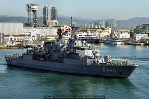 La fragata F243 Yildirim pertenece al tipo Track I o subclase Yavuz (Foto: Javier Sánchez García/Revista Naval)