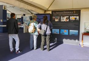 Modelos estáticos, cuadros informativos y audiovisuales mostraban las diversas actividades y misiones que desempeña la Armada (Foto: Javier Sánchez)